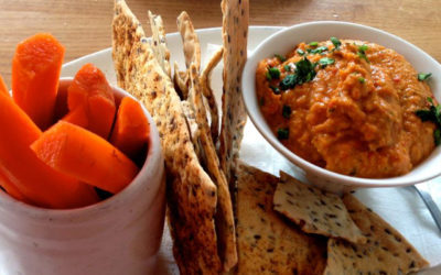 Flax and Carrot Crackers