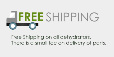 free shipping on all dehydrators